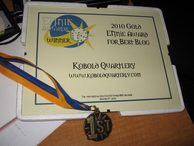 2010 Gold ENnie Award for Best Blog