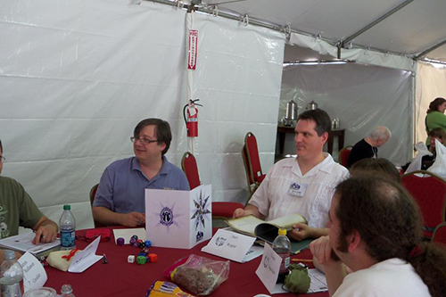 I wonder if any of Wolfgang's dice are chocolate. (Photo courtesy of James and Tracy L. Thomas)