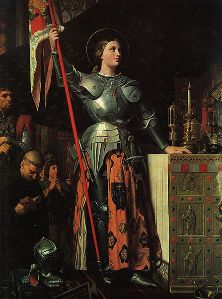 Joan at the coronation of Charles VII, by Jean Auguste Dominique Ingres in 1854