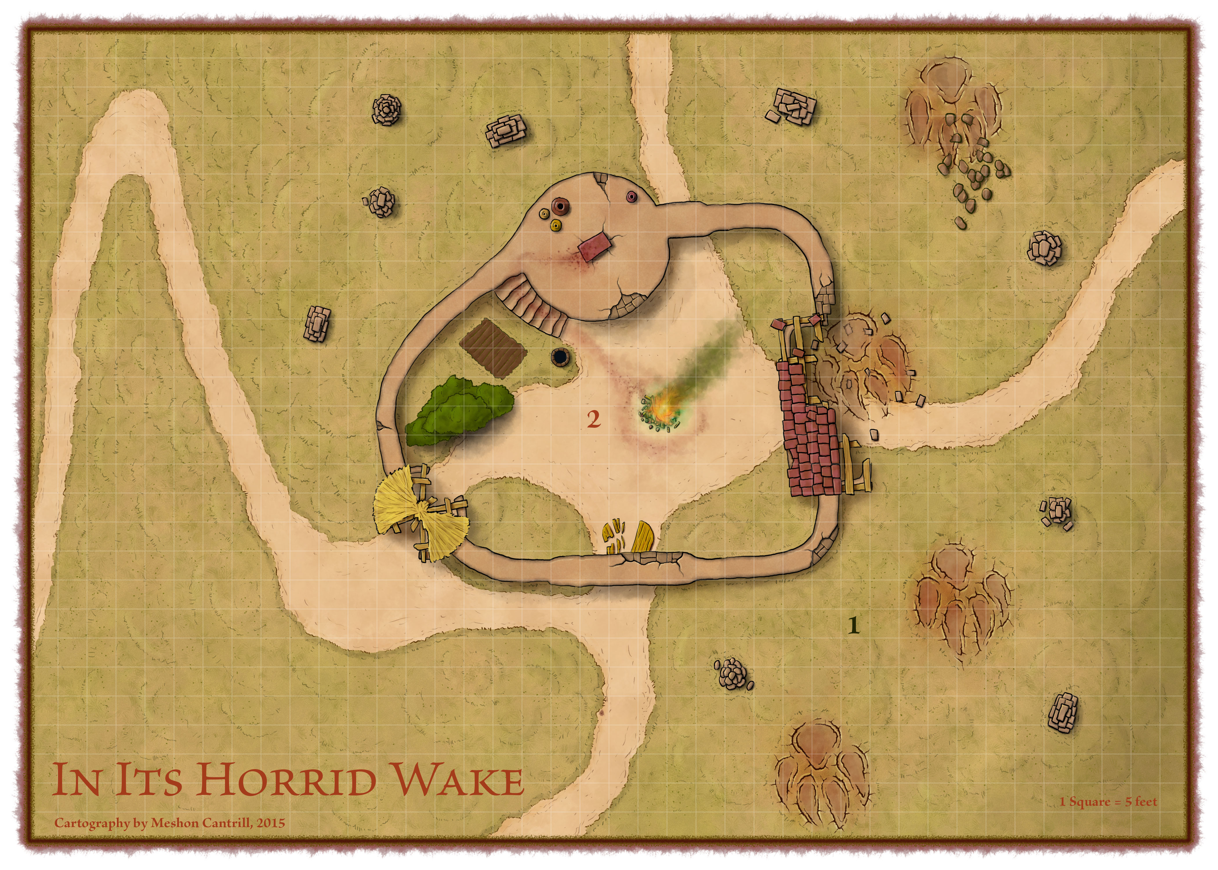 In Its Horrid Wake Map