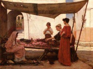John William Waterhouse - A Grecian Flower Market