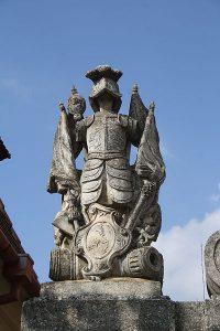 Statue of Knight at gate of Dalešice Chateau, Třebíč District - Jiří Sedláček - Frettie