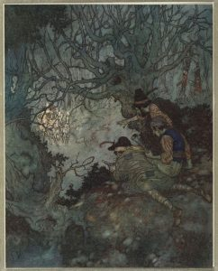 Edmund Dulac - The Little Robber Girl