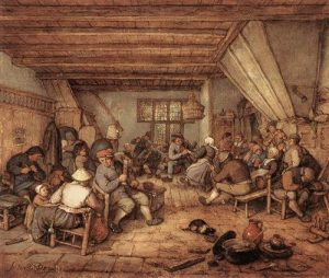 Adriaen van Ostade - Feasting Peasants in a Tavern
