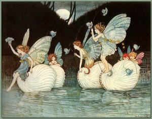 Fairy Islands from the book Elves and Fairies 1916 by Ida Rentoul Outhwaite