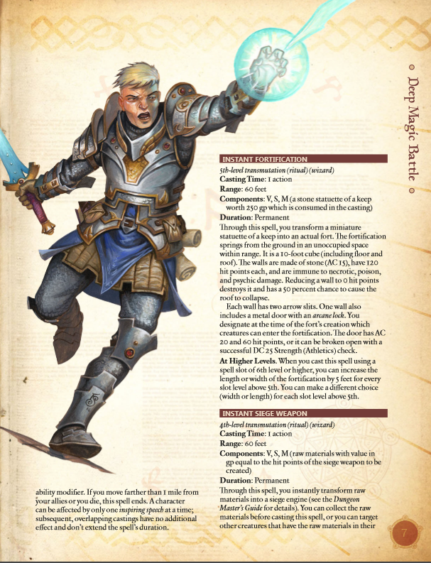 Deep Magic: Battle Magic PDF (5th Edition)