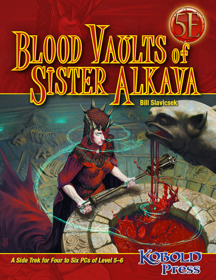 Cover of The Blood Vaults of Sister Alkava