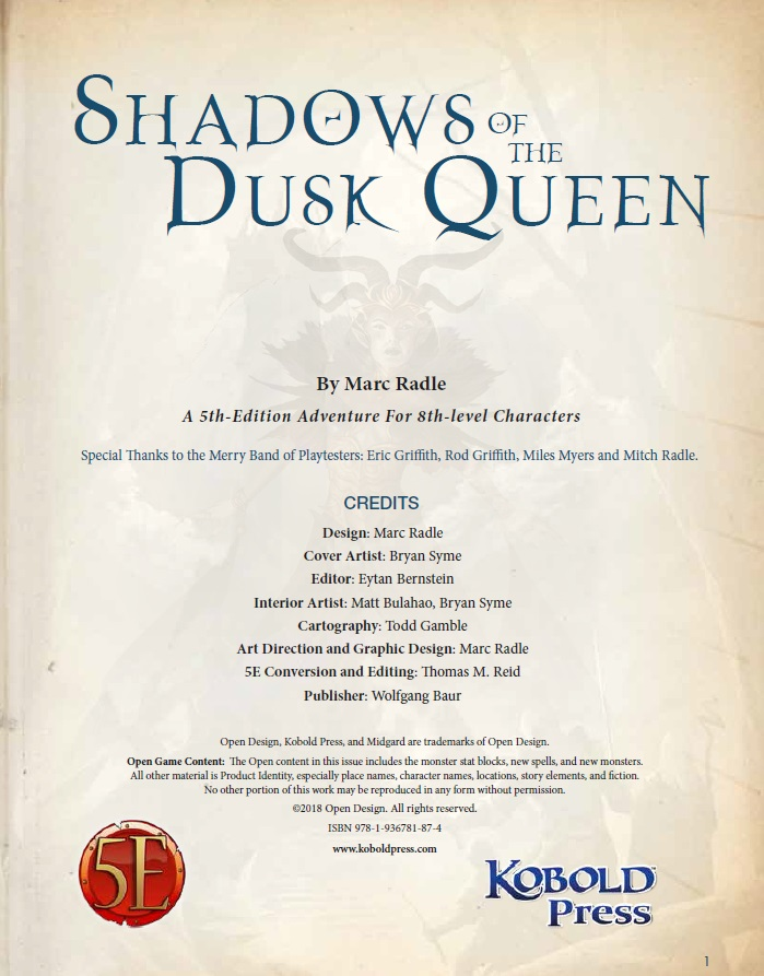 Shadows of the Dusk Queen Brand New /& Sealed