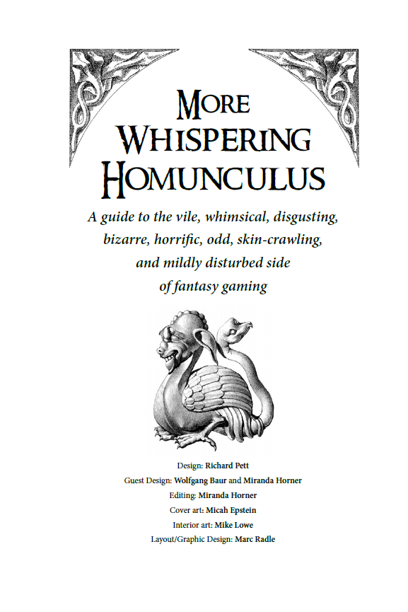 More Whispering Homunculus