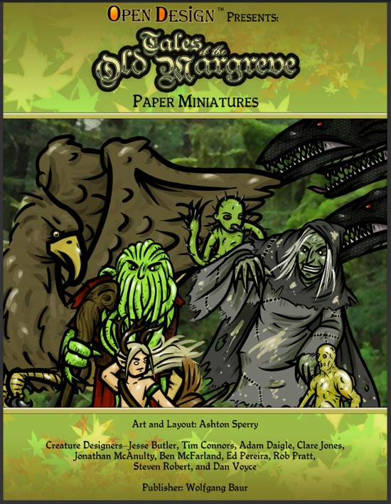Paper Miniatures for Tales of the Old Margreve