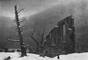 Caspar David Friedrich, Monk in the Snow (1908)