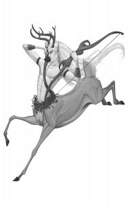 Alseid Deer Centaur by Allison Theus (c) 2010 Open Design