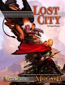 Lost City Cover painting by Kieran Yanner