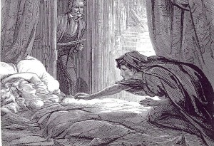 Illustration in Carmilla, Joseph Sheridan Le Fanu's vampire story