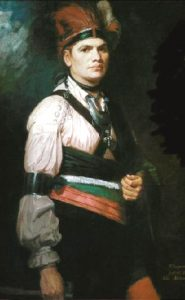 Joseph Brant painting by George Romney, 1776