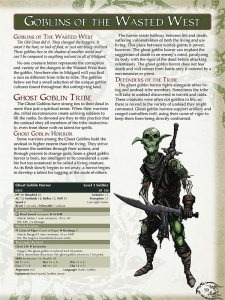 Goblins from the Midgard Bestiary