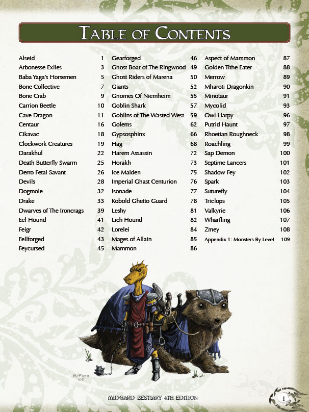 Designer Diaries: Midgard Bestiary, 4th Edition Style (Part 2)