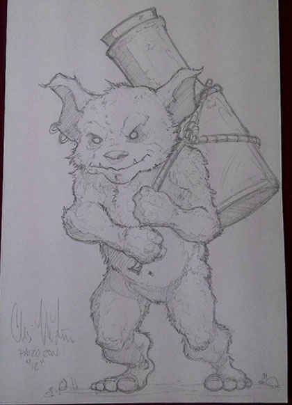 The Rum Gremlin by Chris McFann from Journeys to the West! Beware! (Photographer: Wolfgang Baur)