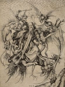 """""""St. Anthony plagued by demons"""" by Martin Schongauer"""