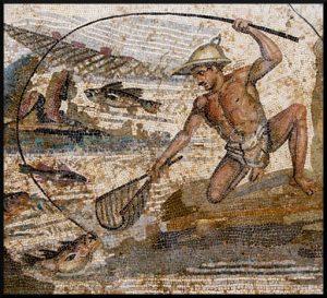 Roman mosaic in the Jamahiriya Museum in Tripoli, Libya