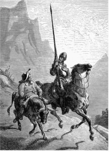 Don Quixote and Sancho Panza (Artist: Gustave Doré)