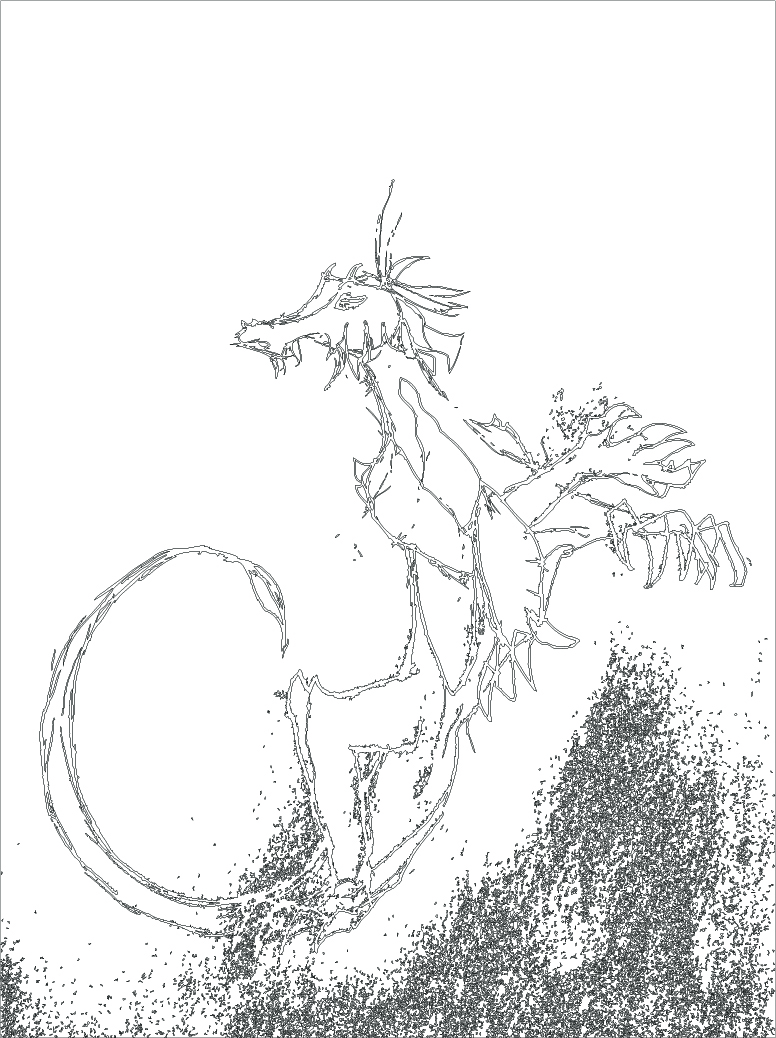Monster Monday: Kalikheth, the Bandit Drake (Oxide Drake)