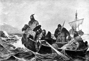 Norsemen landing in Iceland, by Oscar Wergeland (1909).