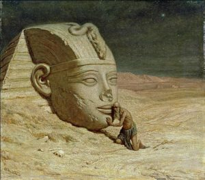 The Questioner of the Sphinx, Elihu Vedder, 1875