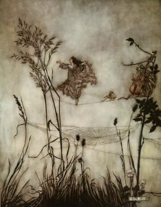 "Arthur Rackham, ""Exquisite Fairy Dancing"""