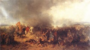 Battle of Chocim by Józef Brandt