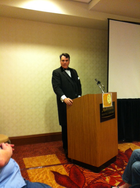 From the Kobold Awards: MC James Thomas in action