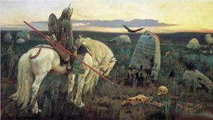 Viktor Vasnetsov - A Knight at the Crossroads