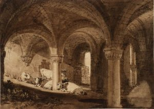 The Crypt of Kirkstall Abbey - Joseph Mallord William Turner - circa 1806-1807