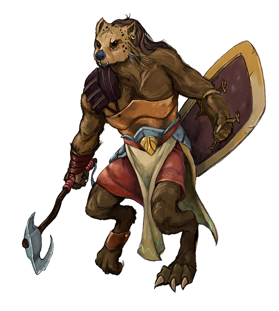 Gnoll with axe by Storn Cook