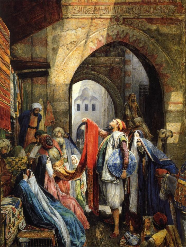 John Frederick Lewis, A Cairo Bazaar, The Dellal, 1875,