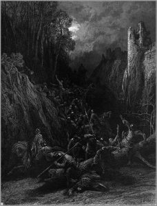 """Gustave Doré's illustration of Lord Alfred Tennyson's """"Idylls of the King"""", 1868."""