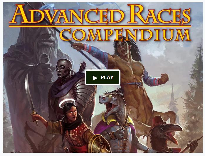 Advanced Races Compendium Kickstarter