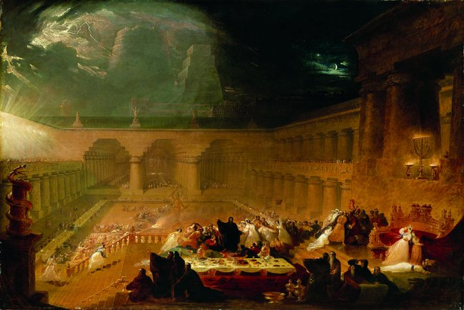"""""""Belshazzar's Feast Martin"""" by Artist John Martin - http://www.nytimes.com/2011/10/01/arts/01iht-melikian01.html?pagewanted=all. Licensed under Public Domain via Wikimedia Commons - http://commons.wikimedia.org/wiki/File:Belshazzar%27s_Feast_Martin.jpg#/media/File:Belshazzar%27s_Feast_Martin.jpg"""