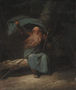 Ossian: The Old Blind Scottish Bard Singing His Swan Song To The Harp Artwork By Nicolai Abraham Abildgaard