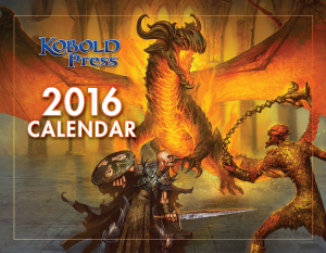 2016 Kobold Press Calendar