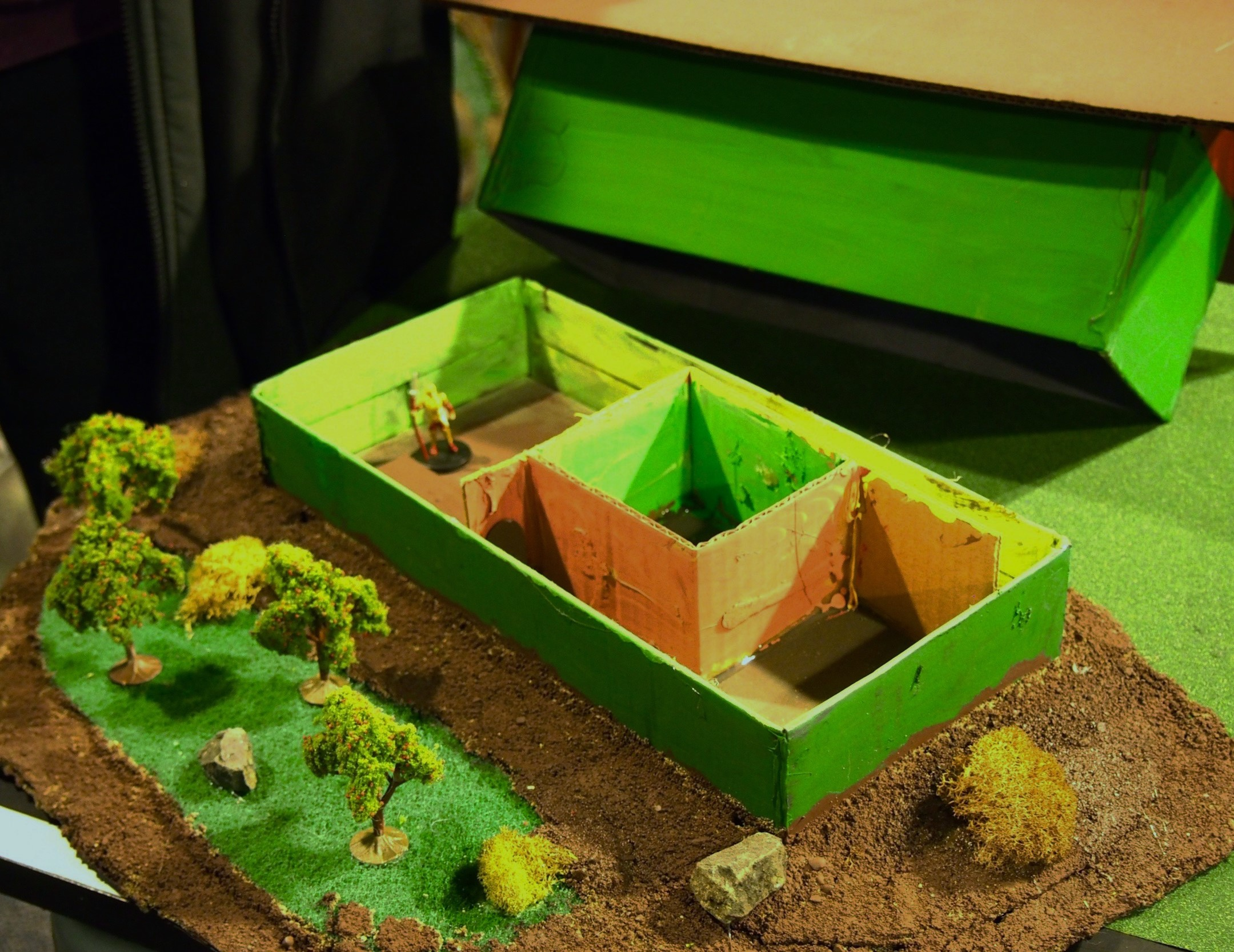 Dragon's Island 3-D Terrain from Recycled Material | Kobold