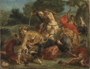 Eugène Delacroix: Lejonjakt.NM 6350