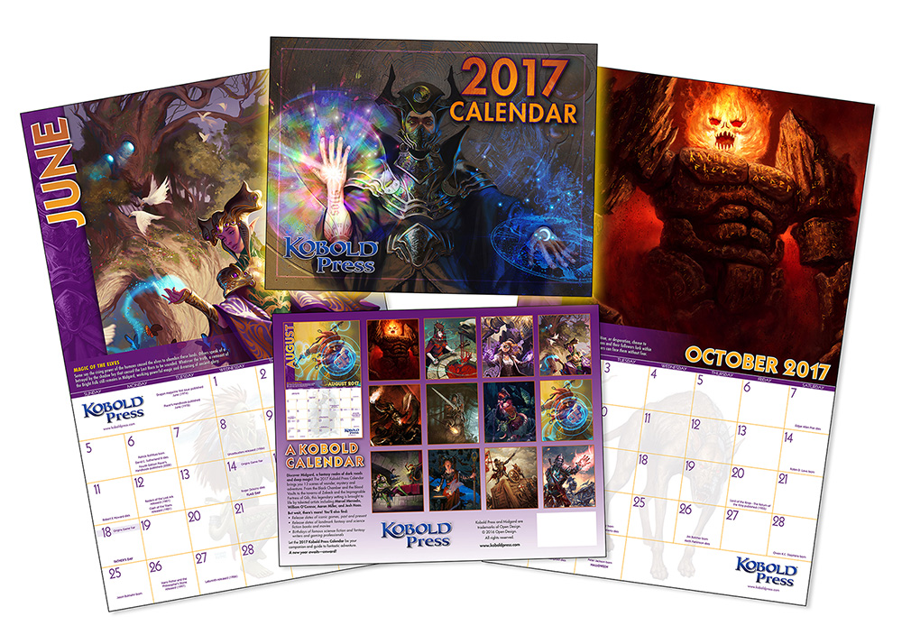 January 2017 Kobold Press Calendar Wallpapers