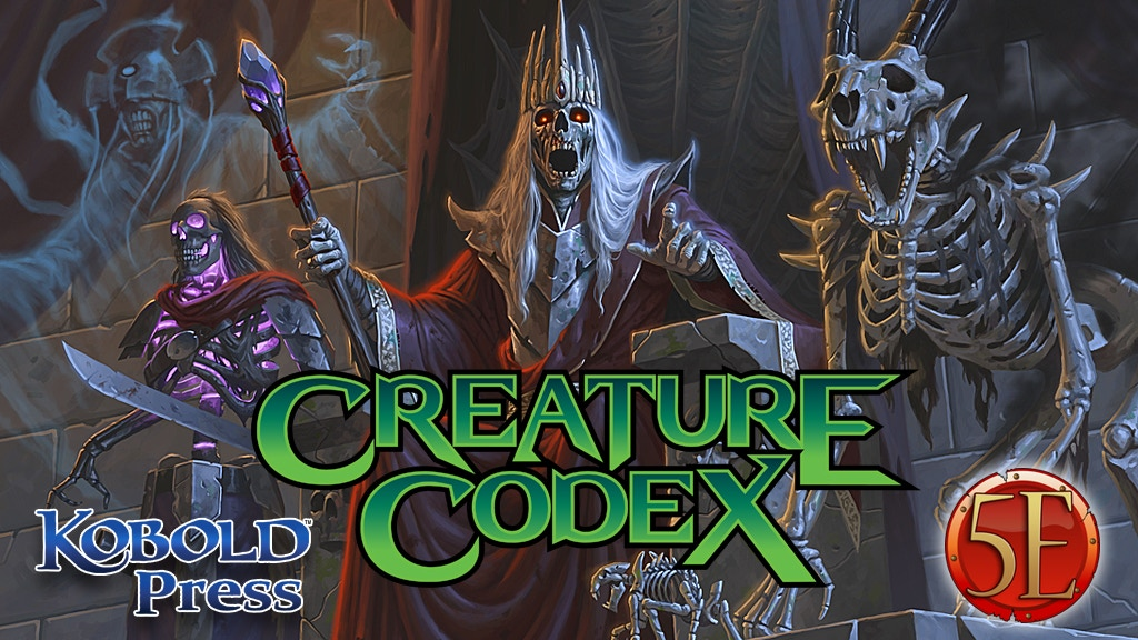 Creature Codex: 5th Edition Monsters, Now on Kickstarter
